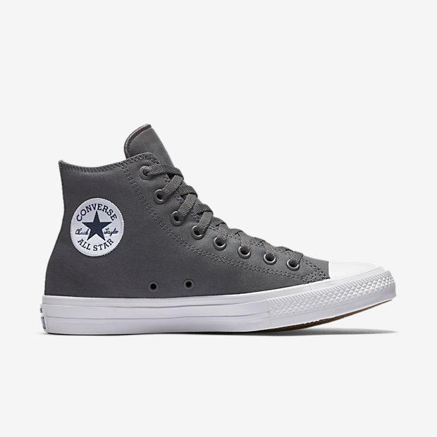 Converse Chuck Taylor All Star II Lunarlon High Top Grey 4da484d85745b